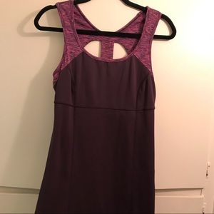 Prana Built-In bra active style dress with cutout
